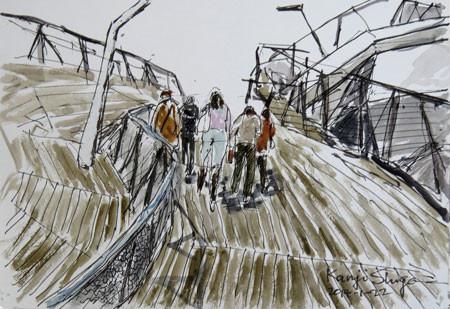 横浜・大桟橋ふ頭国際客船ターミナルの屋上