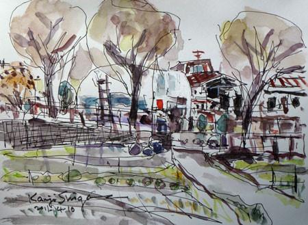藤沢市・大庭の白いビニールハウス