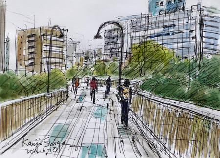 横浜市・桜木町の住吉橋