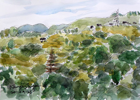 小田原市・早川の山々