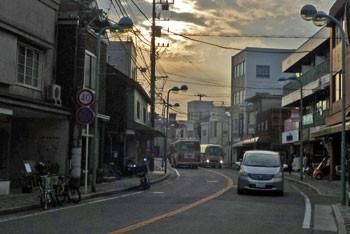 鎌倉・由比ヶ浜通りの夕景