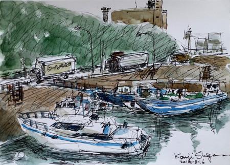 山下橋の船