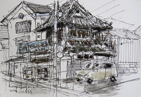 鎌倉・由比ヶ浜通りの昔の家