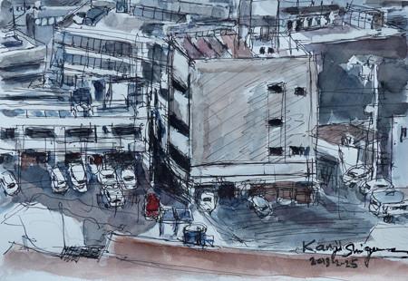 藤沢・新林公園の展望台から視た工場