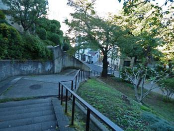 横浜・元町公園「額坂」の石段
