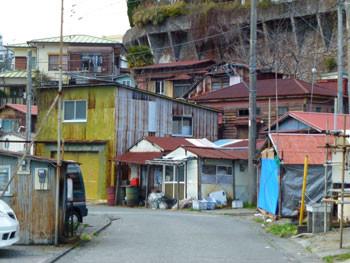 神奈川県・真鶴漁港の建物