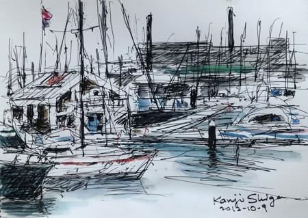 横浜・ベイサイドマリーナのプレジャーボート