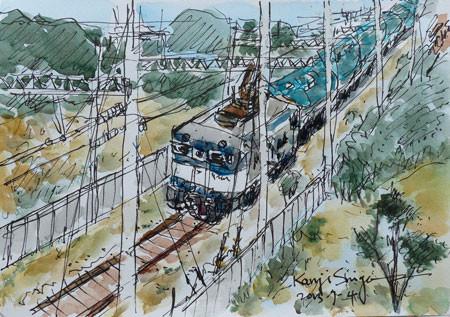 横浜・高島水際線公園の貨物車