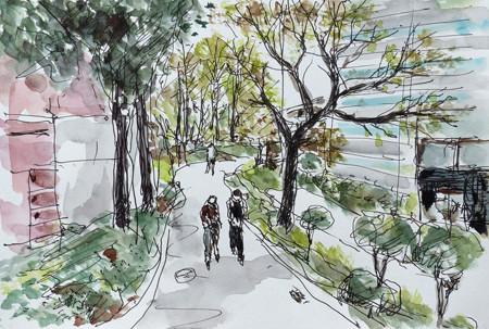 横浜・四季の森公園のプロムナード