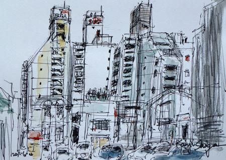 横浜市・馬車道のビル街