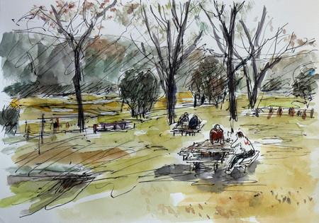 大和市・泉の森の休憩場