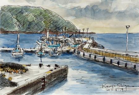藤沢・片瀬漁港と江ノ島