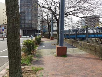 横浜市・大江橋近くの川端通り