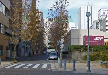 横浜・日本大通りから見たビル街