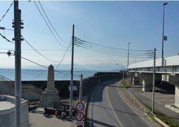 神奈川県・大磯港の海