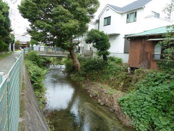 鎌倉の夷堂橋(えびすどうばし)と滑川