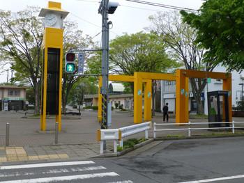 藤沢市・善行団地のバス停「マーケット前」