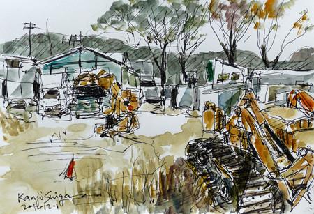大和市・東名高速道路付近の車置き場