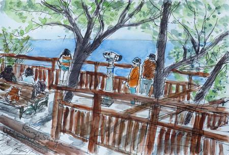 藤沢・江ノ島の亀ヶ岡の展望台