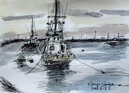 藤沢市・片瀬漁港の漁船