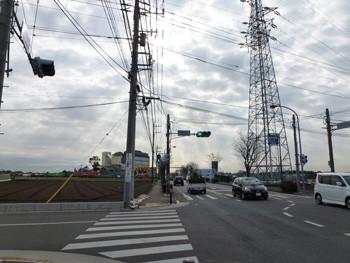 藤沢市・わいわい市場入り口の交差点