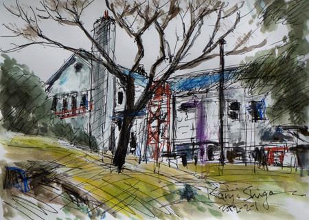 藤沢市・善行の県立体育センター内のグリーンハウス