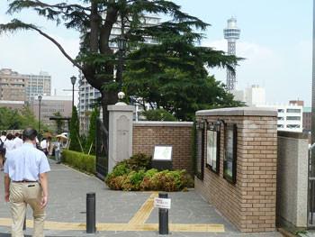 横浜元町・アメリカ山公園の門