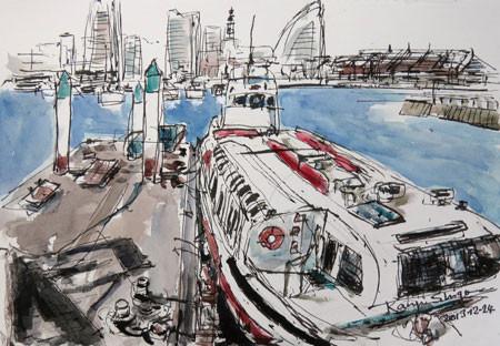 横浜・ゾウの鼻パークの船