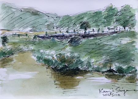 藤沢市・鷹匠橋付近の引地川親水公園