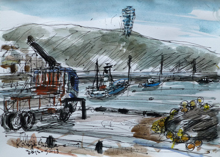 藤沢市・片瀬漁港のトラック