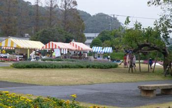 鎌倉・大船フラワーセンターの芝生広場のイベント