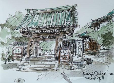 鎌倉・妙本寺の山門