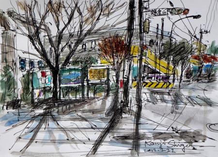 鎌倉市・鎌倉山のバス停付近