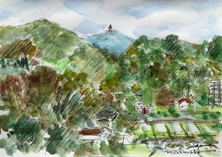 神奈川県・真鶴の山々