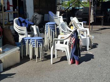 熱海・熱海港の椅子