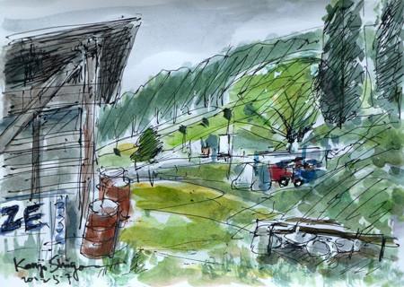 藤沢市・ブドウ畑の小屋