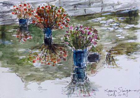 鎌倉・大船フラワーセンターの池の花