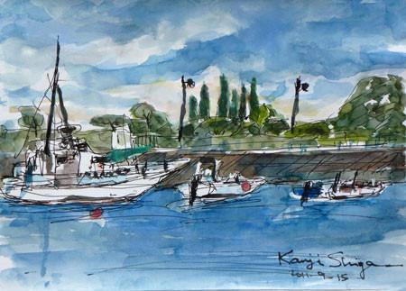 熱海・熱海港の漁船