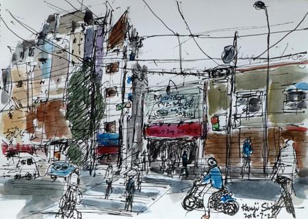 横浜・元町の裏通り商店街