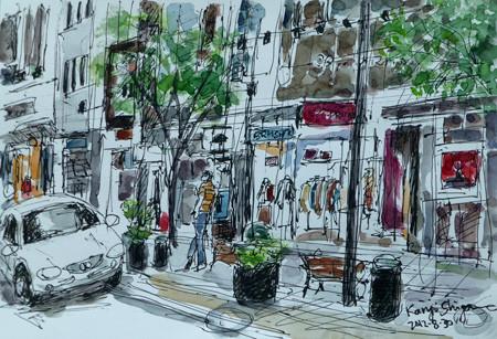 横浜・元町の商店街