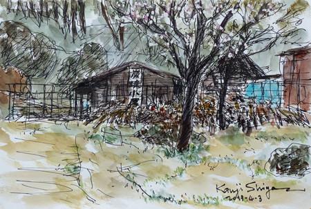 横浜・四季の森公園の炭焼き小屋