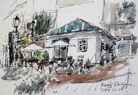 横浜・横浜開港資料館のカフェ