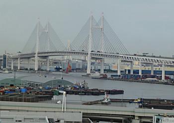 横浜・港の見える丘公園からみた横浜港