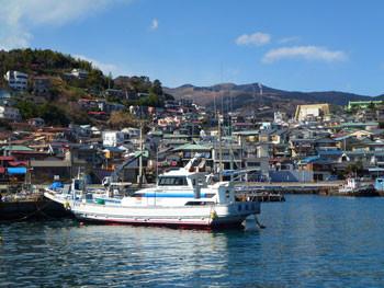神奈川県・真鶴漁港の漁船