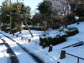 藤沢・雪の日の立石公園