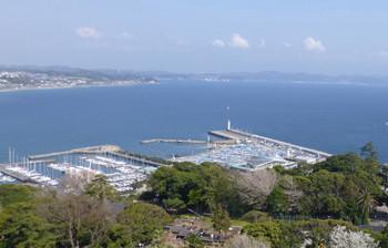 藤沢・江ノ島ヨットハーバーの全景遠望