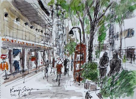 横浜市・馬車道と彫刻