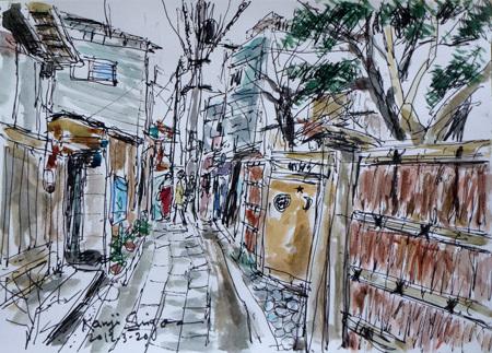 鎌倉市・小町の路地