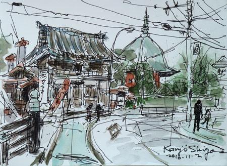 鎌倉・本覚寺の山門と夷堂(えびすどう)