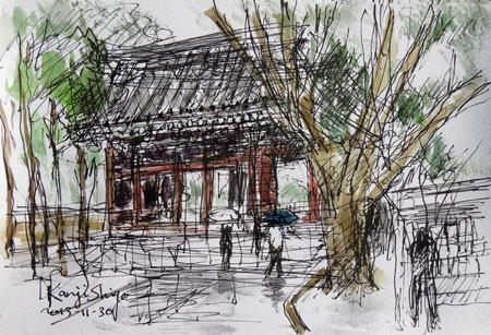 鎌倉・鎌倉大仏殿高徳院の仁王門